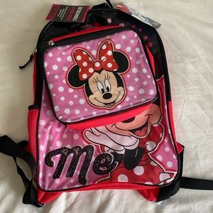 Minnie Mouse classic character backpack set